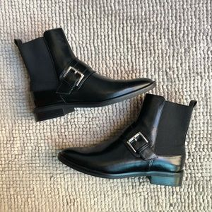 Zara Collection | Elastic Ankle Buckle Booties